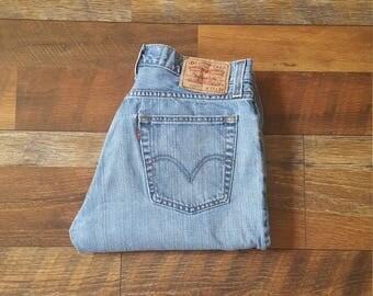 Levis 527 Waist 33 Vintage Mid Waist Straight Leg Boyfriend Jeans Hipster size 33X30