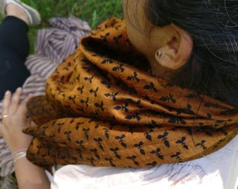 Free shipping! 100% pure raw silk scarf,Neck scarf,square scarf