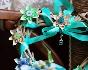 Flower girl heart wreath.