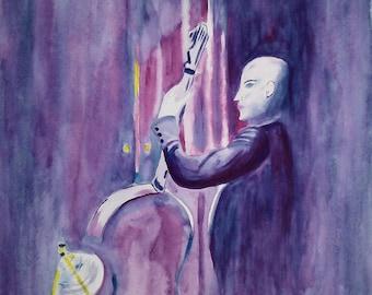 Watercolor jazz- 30.5*43 cm
