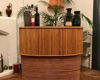 SOLD-----Retro bamboo/rattan  tiki bar