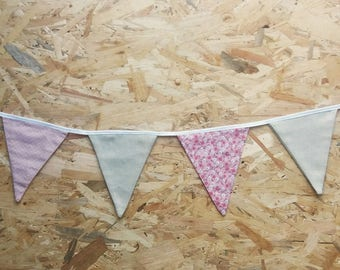 Pennant with 6 triangles mix of prints