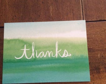 Customizeable braille thank you greeting card