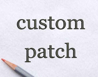 Custom patch Embroidered patch Personalize embroidery patch Custom Name Patch Iron on patch Custom Patch Design Name patch Back patch ED9000