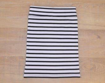 Thin Striped Pencil Skirt
