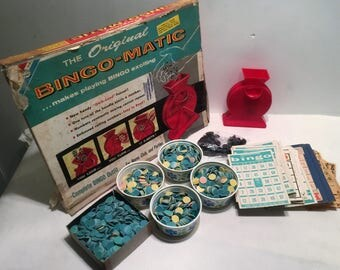 Transogram Bingo-matic Vintage Board Game Complete in Good Condition FREE SHIPPING
