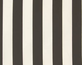 Black and Cream Stripes Fabric - 58 Inches Wide
