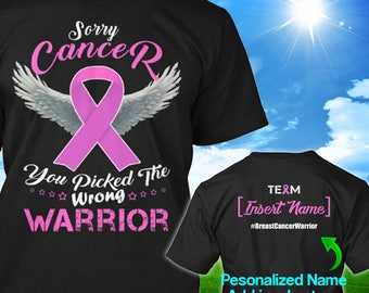 Personalized Breast Cancer Awareness Tshirt Pink Ribbon Warrior Support Survivor Custom T-shirt Strong Apparel Unisex Women Youth Kids Tee