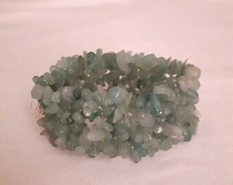 Lovely Jade Chips Stretch Bracelet