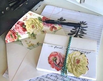 SAMPLE: Floral Lined Envelope