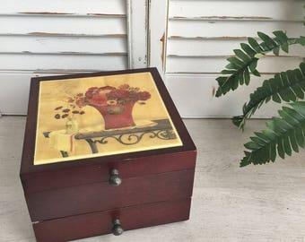 Rustic Wooden Jewelry Box