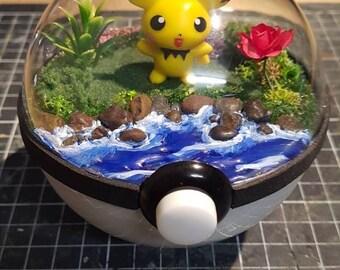 Pokèglobe 100mm: Pichu - Pokemon Terrarium