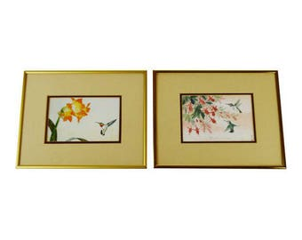 Pair of Vintage Anton Wang Signed Limited Edition Prints