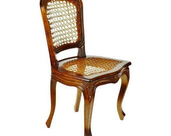 Early French Provincial Style Child's Cane Chair Made in Italy