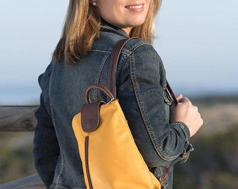 Backpack skin mustard, backpack, low cost bags, yellow backpack, modern backpack, mustard backpack, casual backpack, woman backpack