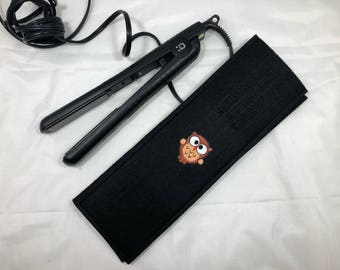 Hair straightener / Curling Iron Case with owl