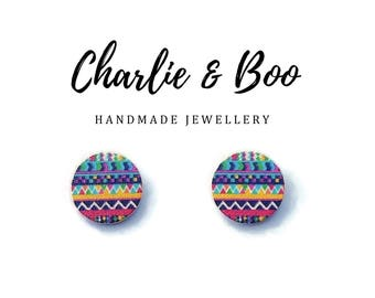 Fun Patterned Stud Earrings