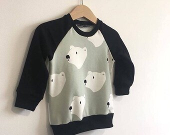 Mint Polar Bear Jersey Sweatshirt