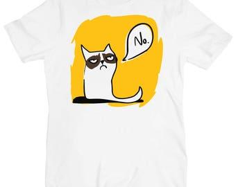 Grumpy Cat Says No Original Art Men's T-shirt