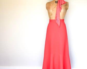 Red Vintage Skirt, Fishtail Skirt, Vintage Fishtail Skirt, Red Skirt, Vintage Long Skirt, True Vintage, NZ Vintage Skirt, Vintage Clothing
