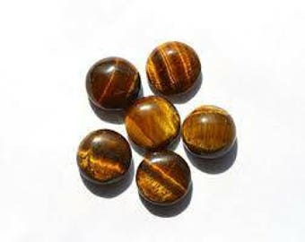 Lot of 25 pcs.  3x3mm  AAA Natural Golden tiger eye round cabochon