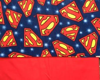 Superman Logo Fleece Blanket/ Superman/ supes/ dc comics