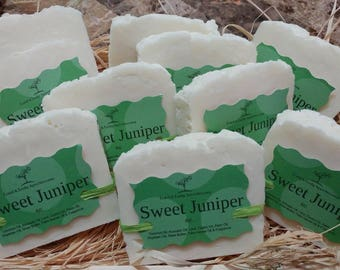 Sweet Juniper Scented Handmade Soap 5oz.