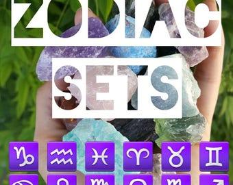 Zodiac Crystal Sets - Zodiac Stone Sets - With Zodiac Necklace
