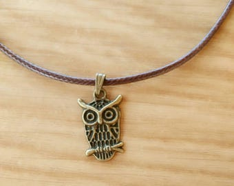 Necklace OWL necklace antique