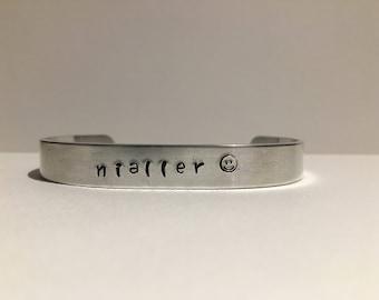 Nialler Aluminum Stamped Bracelet