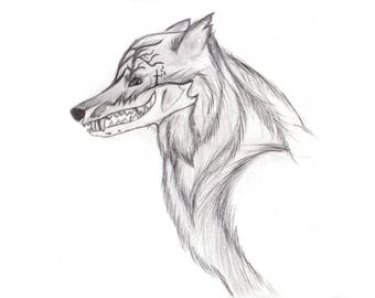 HAND SKETCHED WOLF