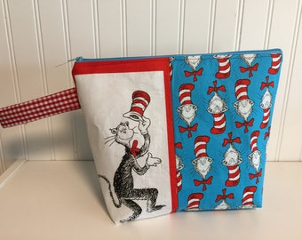Cat in the Hat project bag