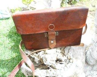 Vintage Swiss Army Leather Mapbag / Crossbody Bag / Shoulder Bag / Officer's 1943