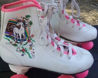 Super 80s unicorn Vintage girls roller skates size 13