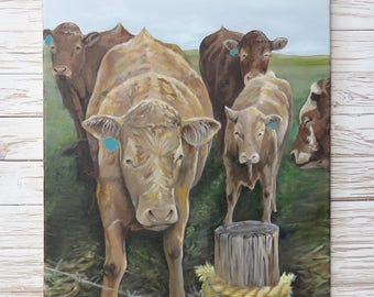 Cow painting original