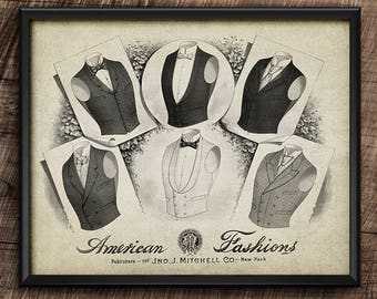 19th Century Fashion · Vintage · Digital File · Wall · Printable · Instant Download #5