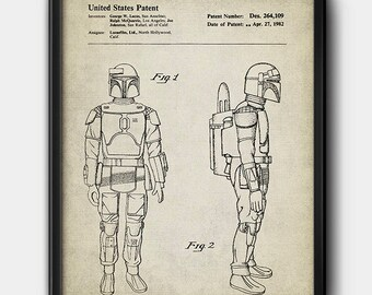 Boba Fett · Star Wars · Patent · Instant Download · Printable · Vintage #0155