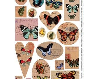 Transfer Sheet Butterflies