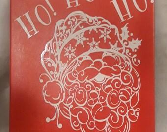 Santa vinyal canvas