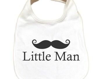 Mustache baby bib | Cute infant bib | Baby shower gift | Little man with mustache | Newborn baby gift | Funky baby bib| Drool Bib | Infant
