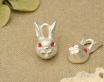 Rabbit boy - Metal, silver - pendants