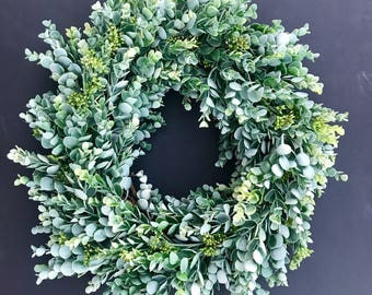Succulent Greens Wreath