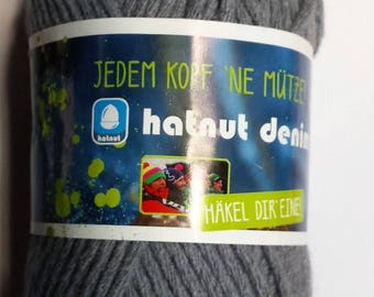 wool HATNUT 50gr aig gray 6/7 new DENIM / / 43