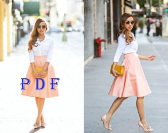 Digital Pattern PDF Sewing Pattern by Style Adi Sewing Project Women's skirt XXL