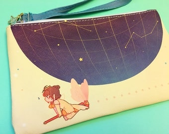 cardcaptor sakura faux leather cosmetic pouch