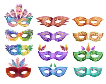 Watercolour Mask Clip Art Graphic Design PNG High Resolution A53