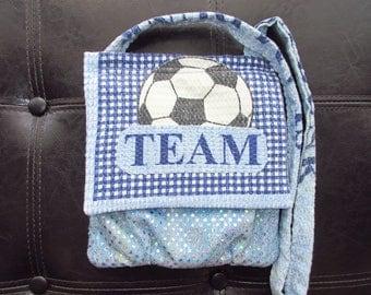 Soccer themed shoulder bag