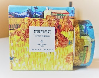 Van Gogh washi tape, kawaii washi tape, decorative tape, adhesive tape, washi tape uk, masking tape
