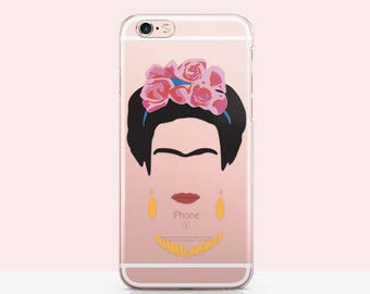 Frida Kahlo Case iPhone 6 Plus Frida Kahlo portrait iPhone SE case Frida colour flowers Frida kalo femail artist viva la Frida 40