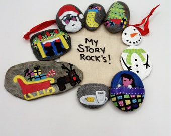 The night before Christmas story stones